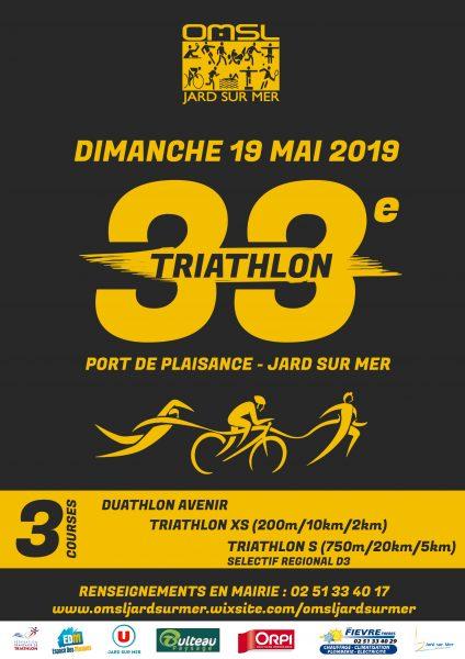 Affiche 33e Triathlon