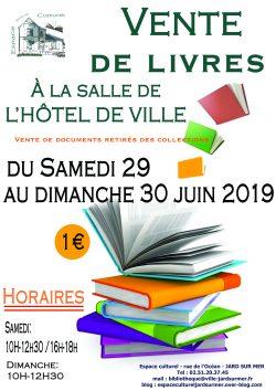 affiche vente de livres 2019