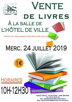 affiche vente de livres 24-07-2019