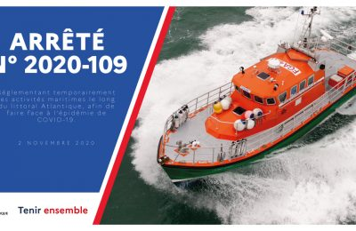 COVID-19 : activités maritimes réglementées