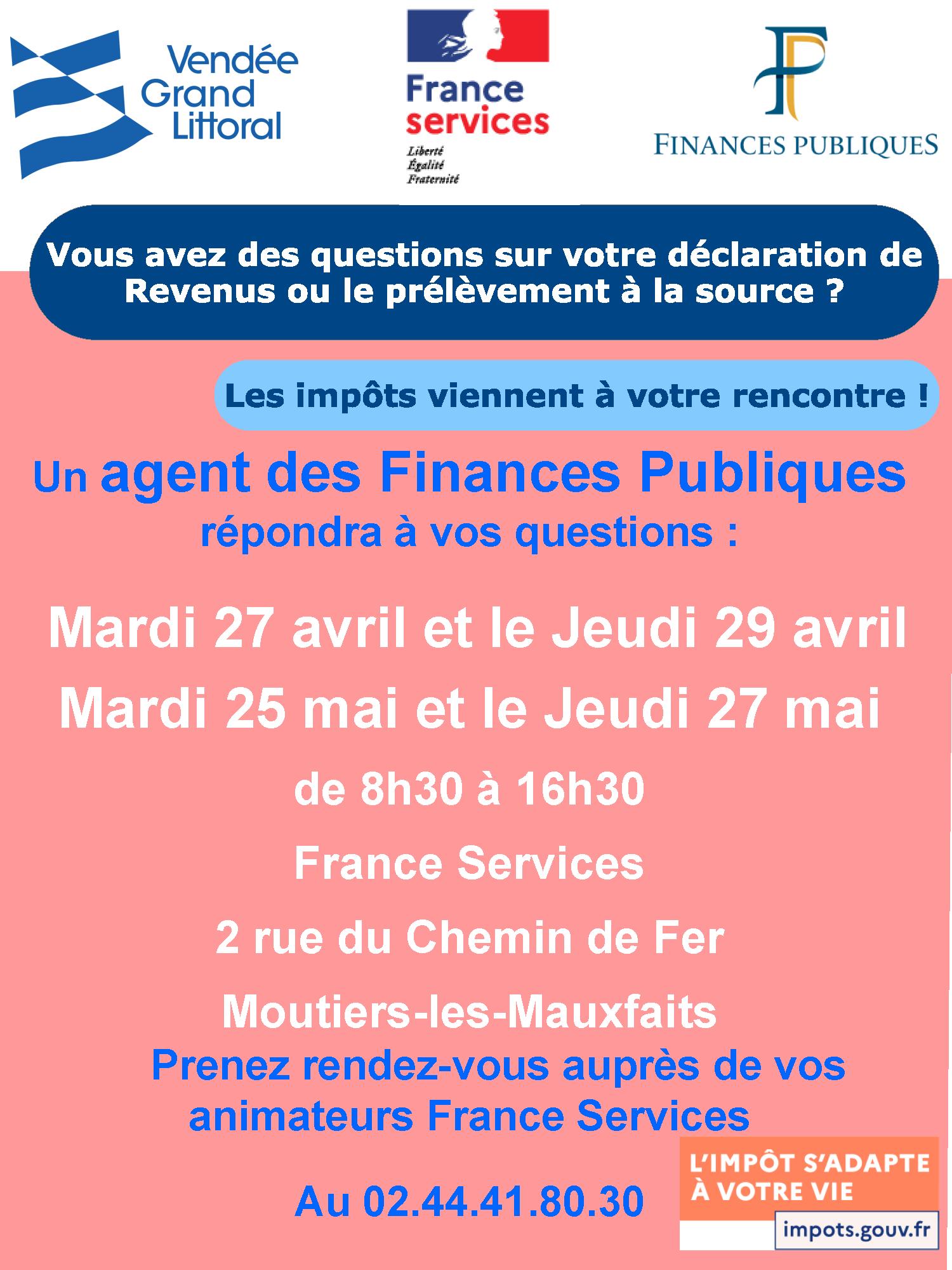 Affiche DDFIP Impots Permanence FS 2021