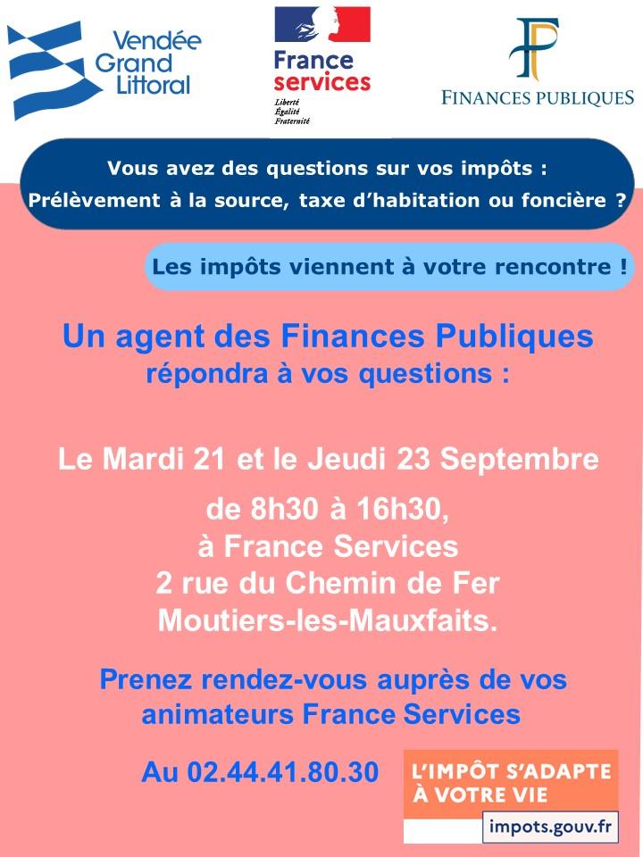 Affiche DDFIP Permanence FS 09-2021